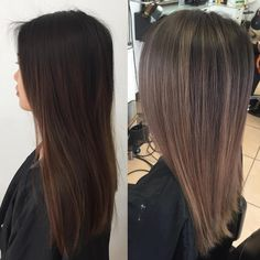 """2,318 Likes, 71 Comments - KY COLOR { ista } (@kycolor) on Instagram: """" Ash grey transformation Started with 6"""" regrowth and an ombre over box dye ends. ️Toned with…"""""""