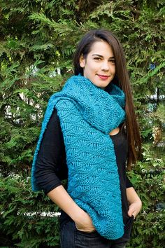 Hand knitted scarf Woolen scarf Knit long scarf by PlexisArt