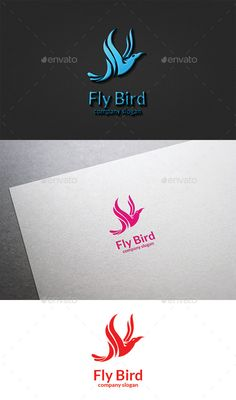 Fly Bird  Logo Design Template Vector #logotype Download it here: http://graphicriver.net/item/fly-bird-logo/9600084?s_rank=1324?ref=nexion