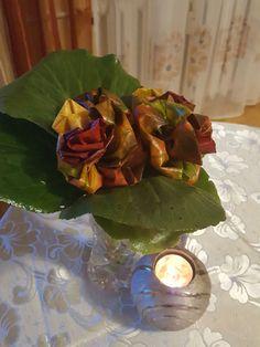 Jesienny bukiet  z liści  klonu