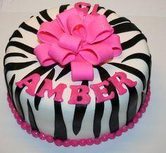 taart zebra 2 Tier Pink Zebra And Leopard Print Cake With Buttercreme Icing  taart zebra