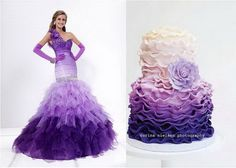 http://www.21stbridal.com/2012/08/wedding-cakes-inspired-by-the-bridal-evening-dress/