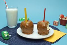 Check out this Caramel Peanut Butter Apples  recipe.