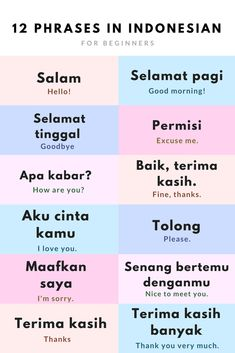 Indonesian Language Travel Phrases
