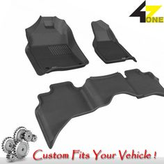 3D Fits 2012-2015 Ram 1500 G3AC65812 Black Waterproof Front and Rear Car Parts F