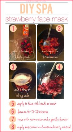 DIY strawberry face mask