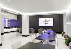 Relájate en la cafetería de nuestro #hotel en Madrid y disfruta de la comodidad de estar en un hotel con #wifigratis.