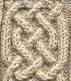 Simple celtic cable » the girl from auntie patterns -- I just love intricate cable patterns.