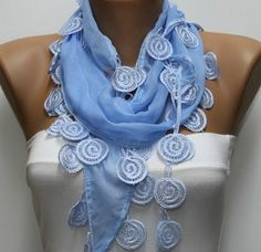 Light Blue  Scarf -  by fatwoman, $15.00