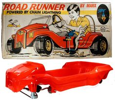 1970 Marx, Road Runner Pedal Car (Unsold Store Stock)