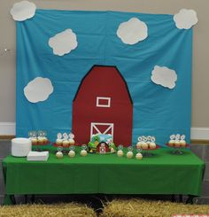 Farm Party Cake Table