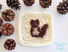Ravelry: Woodland Squirrel Granny Square pattern by Maria's Blue Crayon