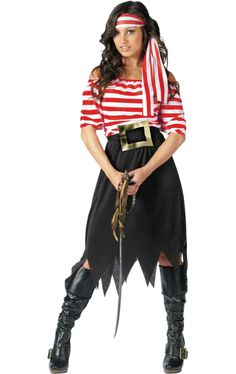 Womenu0027s Pirate Maiden Costume - Pirate Maiden Adult Costume A buccaneer beauty!  sc 1 st  Pinterest & How to make a pirate costume u2026 | Crafts |u2026