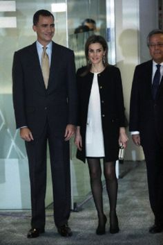 Spanish Crown Prince Felipe and Crown Princess Letizia inaugurated the new headquarters of the agency EFE in Madrid. 13.02.14.
