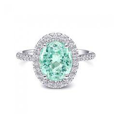 ParaibaTourmaline and Diamond Ring!