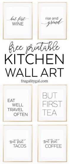 Kitchen Art Work Denver Hickory Cabinets 282 Best Free Printables Kitchens Images Frames Gallery Wall Printable Apartment Decor Ideas Black And White