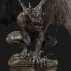 At night they bring mine - gargoyle statues by Kian Min - . - At night they bring mine – gargoyle statues by Kian Min – # bring - Statues, Gargoyle Tattoo, Gargoyle Drawing, Dragons, Gothic Gargoyles, Dragon Tattoo Designs, Angels And Demons, Disney Films, Green Man