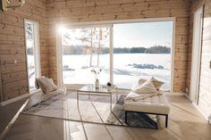 Hirsitalo 2.0 arkistot - Sí Moda Cottage, Windows, Interiors, Inspiration, Biblical Inspiration, Cottages, Window, Cabin, Decorating