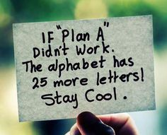 Time for plan Q.  :)