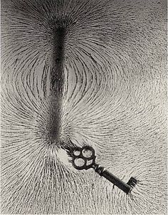 Berenice Abbott, Magnetism with Key, Cambridge, 1958