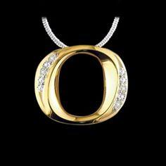 Malka 14 kt. Yellow Gold Diamond O Pendant Necklace #GoDucks