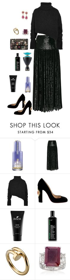 """Untitled #1290"" by alaa88 ❤ liked on Polyvore featuring Tatcha, Temperley London, Chanel, Ann Demeulemeester, Christian Louboutin, Boscia, Peter Thomas Roth, Bulgari and Ross-Simons"