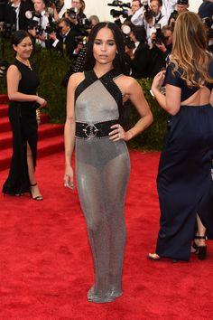 Zoe Kravtiz at 2015 Met Gala in Alexander Wang   - ELLE.com  This is rocker chic.