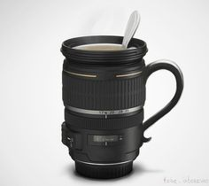 camera lens mug - so much fun, great gift for the photographer in your life!