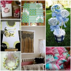 Baby Shower Ideas I love the blankets that look like lollipops