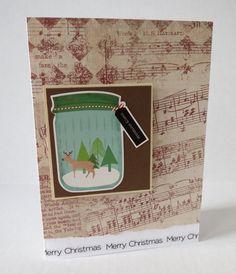 Deer Snow Globe Blank Christmas Card by stufffromtrees on Etsy