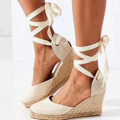 US$ 38.81 - Women Sandals Retro Wedges Shoes Woman Summer Platform Sandals Lace Up Chunky Heigh Heels Sandalias Mujer Wedge Heel Shoes Lady - www.joymanmall.com Shoes Heels Wedges, Womens Shoes Wedges, Women's Shoes Sandals, Wedge Sandals, Chunky Sandals, Lace Up Wedges, Sandals Outfit, Women Sandals, Velcro Shoes