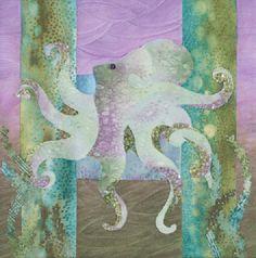 """McKenna Ryan """"Sea Breeze"""" Twinkletoes (Block 9) Octopus Ocean, Quilting. $11.50, via Etsy."""
