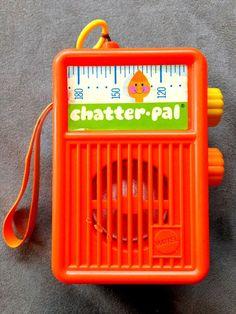 Mattel Vintage 1971 Chatter - Pal Talking Pull String Toy Radio #Mattel