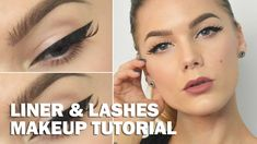 Liner & Lashes (with subs) - Linda Hallberg Makeup Tutorials