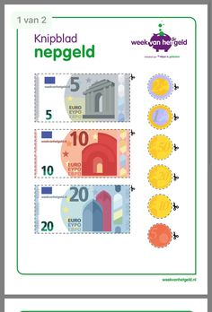 Geld om zelf te knippen Euro, Creative Teaching, Teaching Tips, School Frame, Math Classroom, Toddler Preschool, Primary School, Special Education, Parenting Hacks