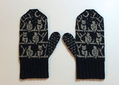 Ravelry: O.W.L. Mittens pattern by Celeste Young