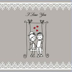 Love swing illustration vector