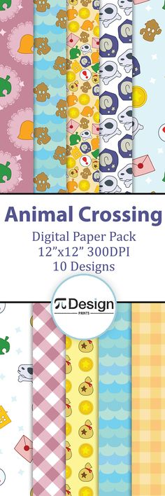 Have fun with your Animal Crossing pals with this digital paper pack. Perfect for scrapbooking projects, invitations, announcements, party favors, wallpapers, graphic design, stationary and paper crafts. Just print it at home or at your local print shop and you can use it for all your crafting needs.