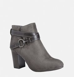 Shop trendy new booties for fall like the wide width Cora Sueded Bootie available online at avenue.com. Avenue Store
