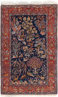 Schuler Auktionen Zürich  |   Ghom Z-Iran, um 1960. 135x212 cm (ft. 4.5x7).