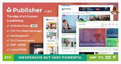 Download FreePublisher WordPress Theme1.8.2– ThemeForest |Publisher v1.8.2 – Magazine, Blog, Newspaper and Review WordPress Theme(Last Updated on 1st May, 2017.   #Publisher WordPress Theme #ThemeForest