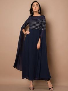 Online Shopping Site for Fashion & Lifestyle in India. Party Wear Indian Dresses, Indian Gowns Dresses, Indian Fashion Dresses, Dress Indian Style, Indian Designer Outfits, Designer Dresses, Long Dress Design, Stylish Dress Designs, Simple Pakistani Dresses
