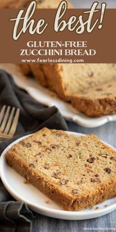 Quick and easy old fashioned homemade gluten free zucchini bread. How to make gluten free zucchini loaf from scratch. Perfect for breakfast or with a cup of tea, this easy gluten free and dairy free quick bread is a great way to hide veggies. Recipe at www.fearlessdining.com