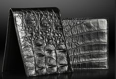 GENUINE CROCODILE LEATHER MENS CLASSIC BLACK CONTINENTAL WALLET. www.hopelovecharacter.com