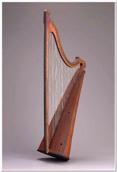 Triple harp (telyn deires)  about 1750 John Richard (Welsh, 1711–1789 Welsh)  Object Place: Llanrwst, Wales