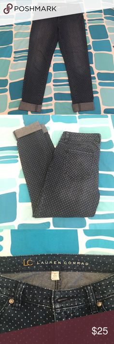 Lauren Conrad Polka dot Jeans Lauren Conrad size 6 polka dot jeans. Like new Lauren Conrad Jeans