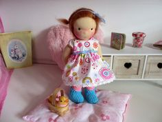 Becky, waldorf inspired doll, 9 inch door Poppenina op Etsy