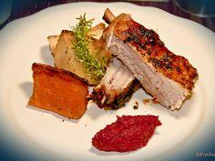 Costilla de cerdo al horno para chuparse los dedos Salsa Barbacoa, Tenerife, Carne, Sandwiches, Pork, Meat, Chimichurri, Space, Traditional Kitchen