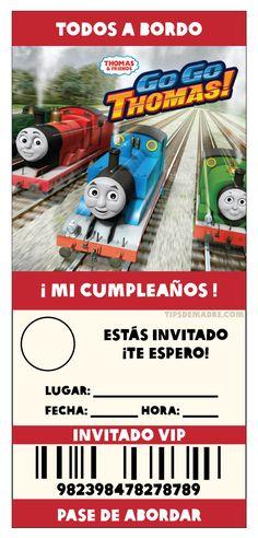 Thomas and Friends --- Las invitaciones, así como en mis otros posts, aquí te diseñélas recomendaciones, no encontré invitaciones en español para fiestas, así que las hice yo, ya están en tamaño para imprimir, solo te faltaría poner los detalles de la fiesta y/o foto de tu peque (DA CLICK EN LA IMAGEN PARA VERLA EN GRANDE): invitacion-fiesta-thomas