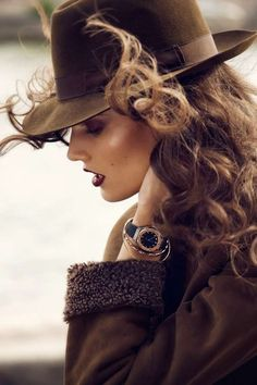 A good pin for the 'hats' board, but her hair is so beautiful it goes to the 'hair & beauty' board.